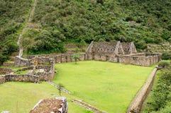 Suramérica - Perú, ruinas del inca de Choquequirao imagen de archivo