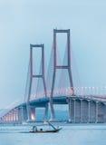 Suramadu桥梁 库存照片