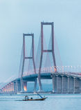 Suramadu Bridge. Is the longest bridge in Indonesia Stock Photo