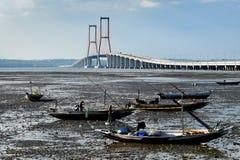 Suramadu most Surabaya Indonezja Obrazy Stock