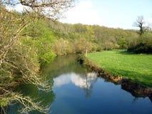Suran Fluss im Frühjahr, Ain, Frankreich lizenzfreies stockfoto