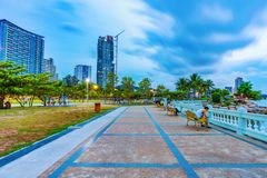 Surasak seaside park royalty free stock photo