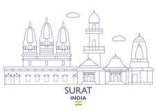 Surat City Skyline, India Royalty Free Stock Photo