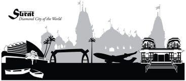 Surat, India Ilustracja Wektor