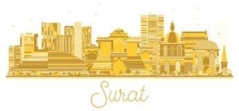 Surat India City skyline golden silhouette. Stock Photography