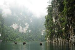 Surat Thani - Chiew Larn Lake, Khao Sok National Park. Landmark southern of thailand forest Stock Photos
