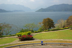 SURAT THANI, THAILAND - January 19, 2014: Ratchaprapha Dam in Kh Stock Images