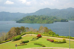 SURAT THANI, THAILAND - January 19, 2014: Ratchaprapha Dam in Kh Stock Image