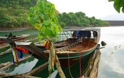 SURAT THANI, THAILAND - January 19, 2014: Ratchaprapha Dam in Kh Royalty Free Stock Images