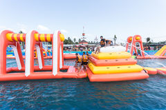 SURAT THANI, THAILAND - JANUARY 2 : The unidentified people in The Pirate water park Stock Images