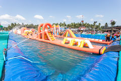 SURAT THANI, THAILAND - JANUARY 2 : The unidentified people in The Pirate water park Royalty Free Stock Images