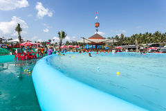 SURAT THANI, THAILAND - JANUARY 2 : The unidentified people in The Pirate water park Stock Photography