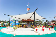 SURAT THANI, THAILAND - JANUARY 2 : The unidentified people in The Pirate water park Royalty Free Stock Photography