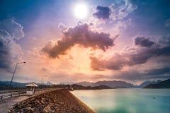 Surat Thani Thailand Ratchaprapa fördämning Royaltyfri Foto