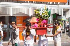 Surat Thani vegetarianfestival Arkivbild
