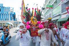 Surat Thani vegetarianfestival Fotografering för Bildbyråer
