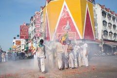 Surat Thani vegetarianfestival Royaltyfri Bild