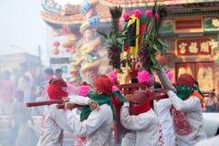 Surat Thani vegetarianfestival Arkivfoton