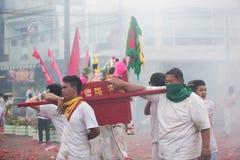 Surat Thani vegetarianfestival Royaltyfri Foto