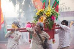 Surat Thani vegetarianfestival Royaltyfria Bilder