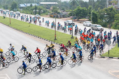 SURATTHANI, THAILAND – JUN 21 : Bike tourism campaign for trav Stock Photos