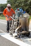 SURATTHANI, THAILAND - January 9 : Team of civil worker work on Royalty Free Stock Images
