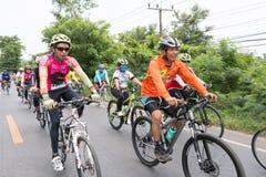 SURATTHANI, THAILAND – JUN 21 : Bike tourism campaign for trav Stock Photo