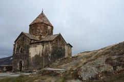 Surb Arakelots (heliga apostlar) kyrka i Sevanavank, Armenien Arkivfoto