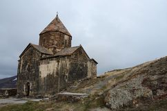 Surb Arakelots (Holy Apostles) church in Sevanavank ,Armenia Stock Photo