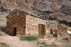 Surb Grigor's Chapel and khachkars of Noravank monastery,Armenia Royalty Free Stock Image
