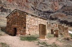 Surb Grigor's Chapel and khachkars of Noravank monastery,Armenia Royalty Free Stock Image