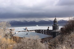 Surb Hakob chapel dome, Sevan, Armenia Royalty Free Stock Photos