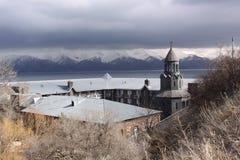 Surb Hakob chapel dome, Sevan, Armenia Stock Photo