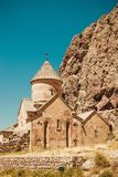 Surb Karapet Church, Noravank. Armenian culture. Architecture concept. Pilgrimage place. Religion background. Travel to Armenia. T. Ourism industry. Tourist Royalty Free Stock Images