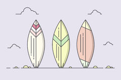 Surboards на пляже Стоковое Фото