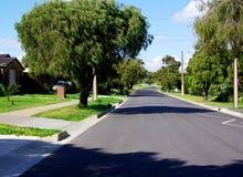 Surburban Adelaide Straßen-Szene Lizenzfreie Stockbilder