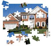 Surburban Home puzzle Royalty Free Stock Photos