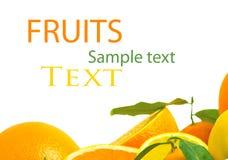 Surcharge de vitamine C, piles de fruit coupé en tranches Photographie stock libre de droits
