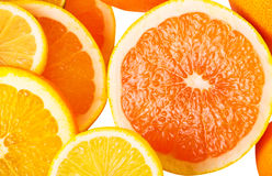 Surcharge de vitamine C, piles de fruit coupé en tranches Photo stock