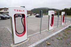 Surchauffeur de Tesla Photo libre de droits