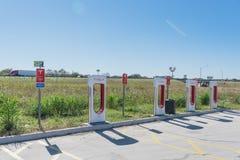 Surchauffeur de Tesla dans Flatonia, le Texas, Etats-Unis Photographie stock
