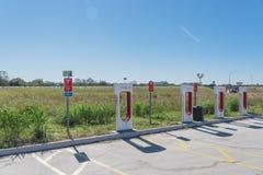 Surchauffeur de Tesla dans Flatonia, le Texas, Etats-Unis Image stock