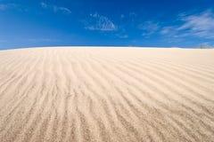 Surcos en la duna Imagenes de archivo