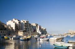 Surdéveloppement julien de rue Malte photo stock