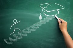 With sure steps to graduation Stock Photography