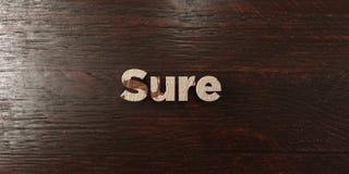 Sure - titre en bois sale sur l'érable - 3D a rendu l'image courante gratuite de redevance Image stock