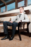 Sure young business man Royalty Free Stock Photo