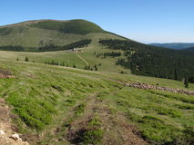 Sureanu pass and top. Mountain image - Sureanu pass and top Stock Images