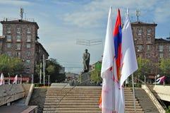 Suren Spandaryan 纪念碑在亚美尼亚 免版税库存照片