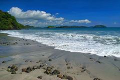 The Surf. The beautiful surf on the coast of Costa Rica Royalty Free Stock Images